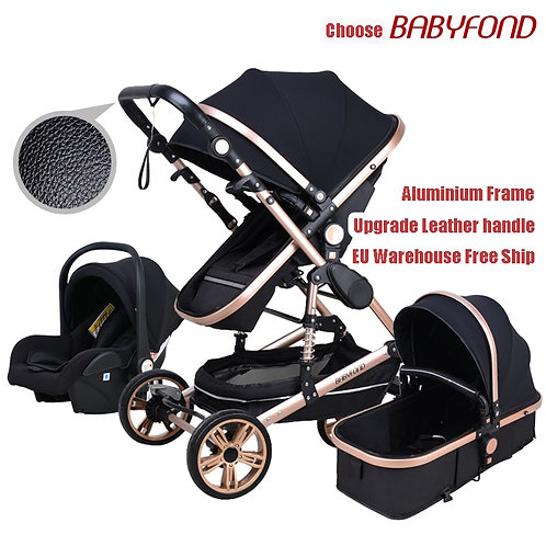 Babyfond Baby Stroller High Landscape Baby Cart  3 in 1