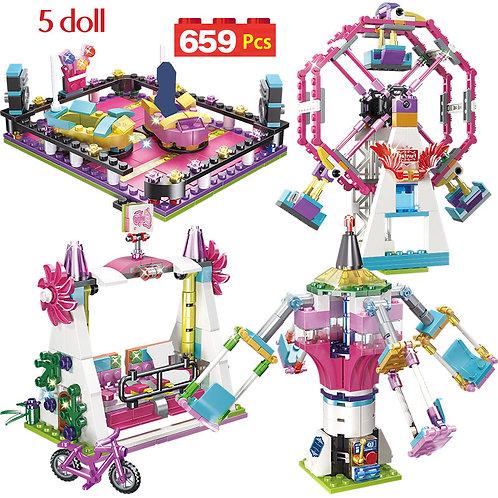 699PCS City Bricks Friends Fun Park Carnival of Joy Building Blocks