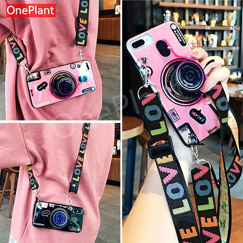 3D Retro Camera Lanyard Case for IphoneSilicone Cover Note 20