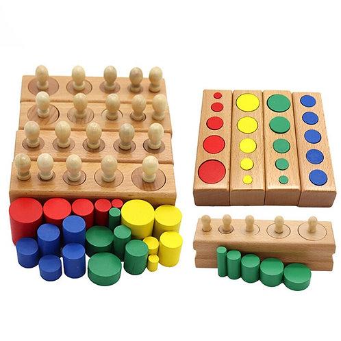 Baby Montessori Colorful Socket Cylinder