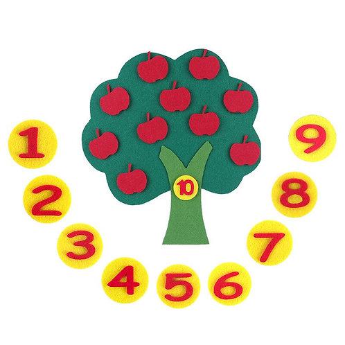 2019 Montessori Teaching Aids Apple Trees Math Toys