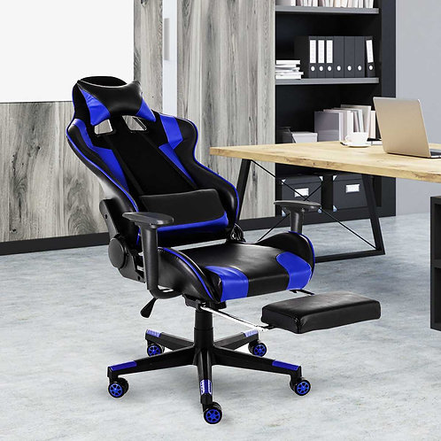 Office Chairs 180° Lying Massage Reclining Office Computer WCG With Footrest