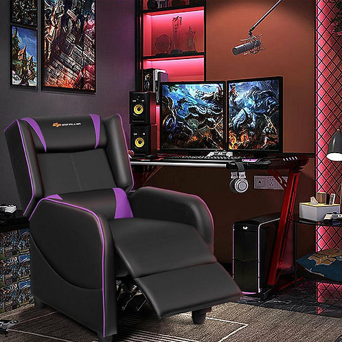 Massage Gaming Recliner Chair Single Living Room Sofa Home Theater Seat HW65388