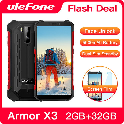 Ulefone Armor X3 Rugged Smartphone Android 9.0 IP68