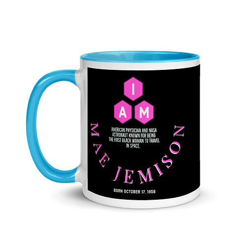 I AM Mae Jemison Mug with Color Inside