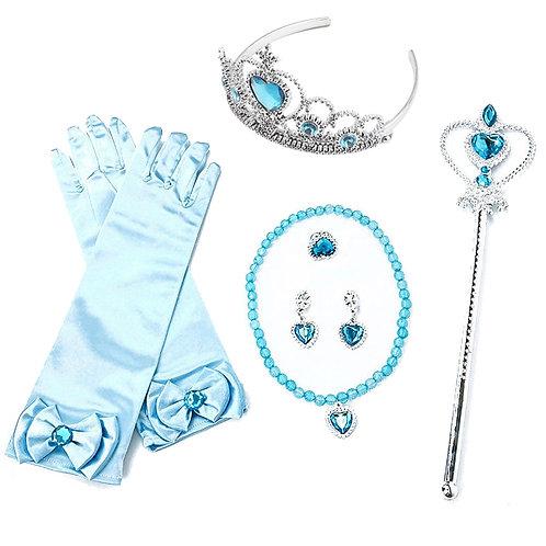 Girls Elsa Anna Accessories Set Kids Party Costume
