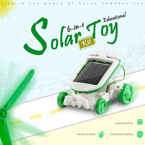6 in 1 DIY Electric Assembly Robot Toys Kit Solar Combination Intelligence Toy