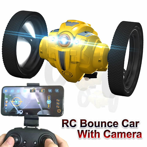 RC Car With Camera HD 2.0mp WIFI Bounce Car PEG SJ88 4CH 2.4GHz Jumping Sumo