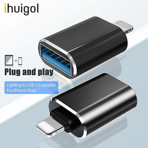Ihuigol OTG Adapter for iPhone 11 Pro Max USB 3.0 to Lighting Converter