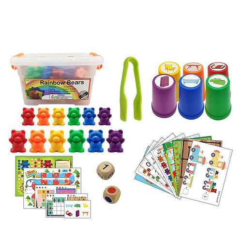 Montessori Perfect Counting Bears With Stacking Cups Set