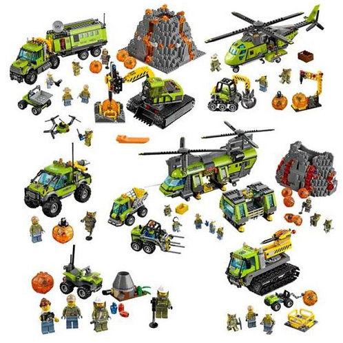 City Series Volcano Supply Helicopter Geological Prospecting