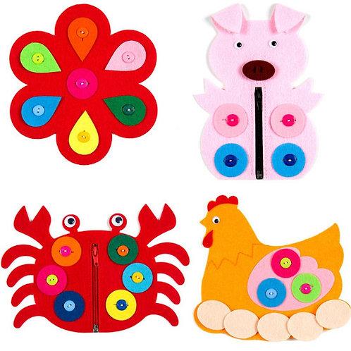 1PC Hand Zipper Button Toys