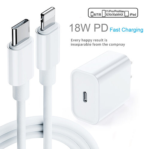 PD Fast Charging 18W 9v/2a USB-C Type-C to Lightning