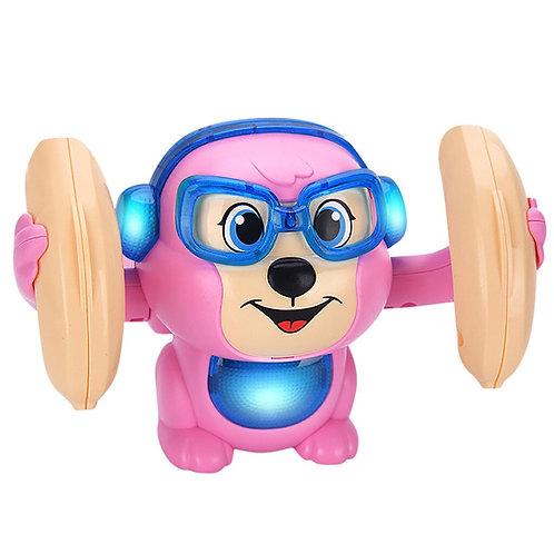 Baby Voice Control Electric Flip Rolling Little Monkey T