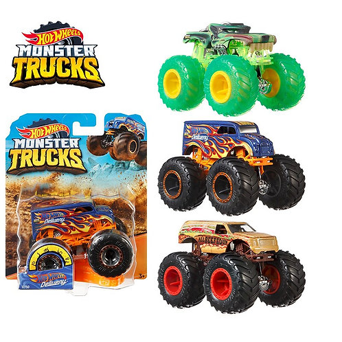 Original 1:64 Hot Wheels Monster Trucks Metal Car Toy  FYJ44