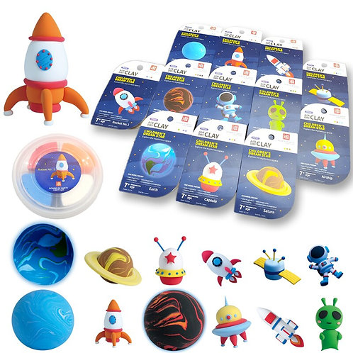 Air Dry Clay Kid Toys 12pcs Space Series