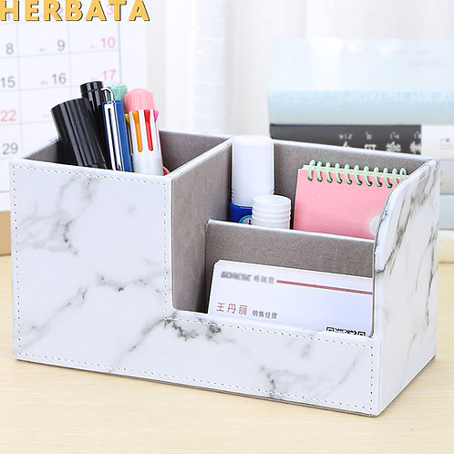 New Marble Pen Pencil Holder Desk Organizer  CL-2564