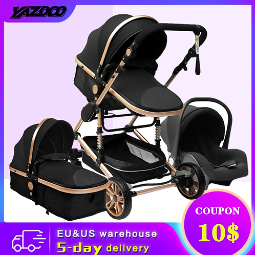 YAZOCO Stroller 3 in 1 Baby Stroller Multifunctional CE/CPC Safety for Baby