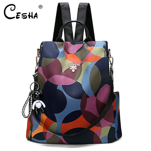 Fashion Anti Theft Women Backpack Durable Fabric Oxford S
