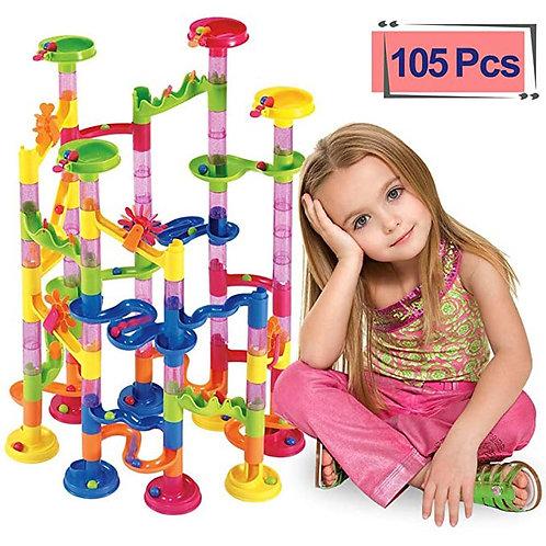 105PCS Marble Run Maze Balls Track Building Blocks