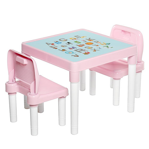 Pink/Blue Children 'S Learning Table Chairs Set Kids