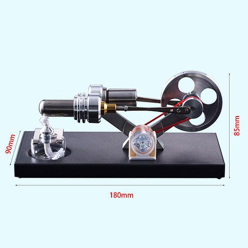 Hot Air Stirling Engine Motor Model DIY Kit With 4pcs Led Lights
