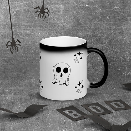 To cute to be scary Matte Black Magic Mug