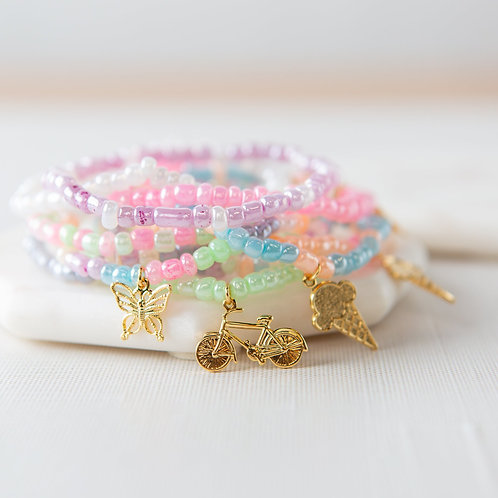Seed Bead Friendship Bracelet Kit, Summertime
