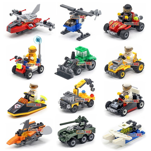 Police Special Police Car Fire Engine Missile Car Plane Building Block