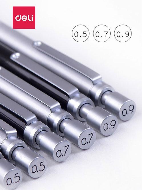 Deli Metal Low Gravity Automatic Pencil 0.9mm Mechanical Pencil 0.7mm