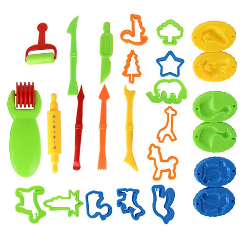 26Pcs Kids Play Doh Tools