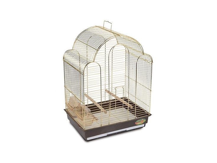 Клетка для птиц среднего размера, золото (42х30х56см)