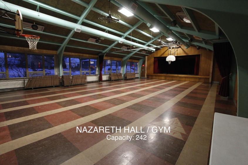 NAZARETH HALL/GYM/STAGE