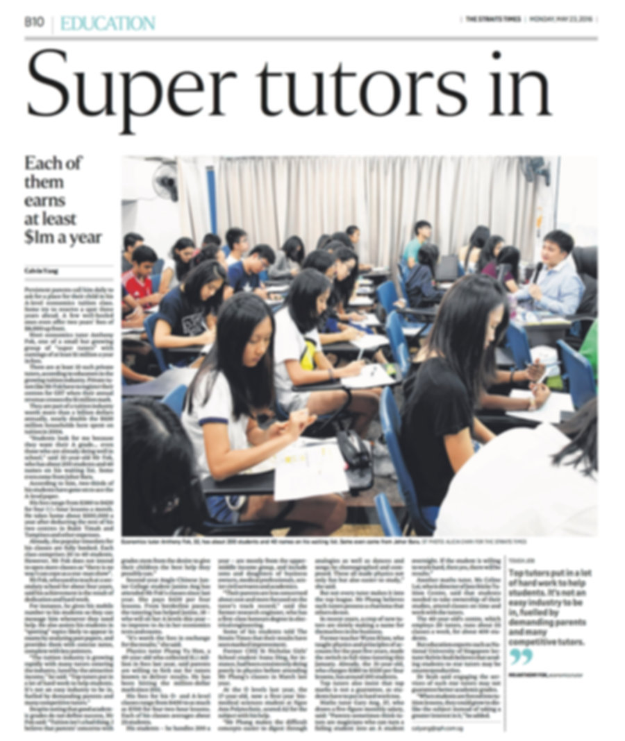 super tutors economics tuition