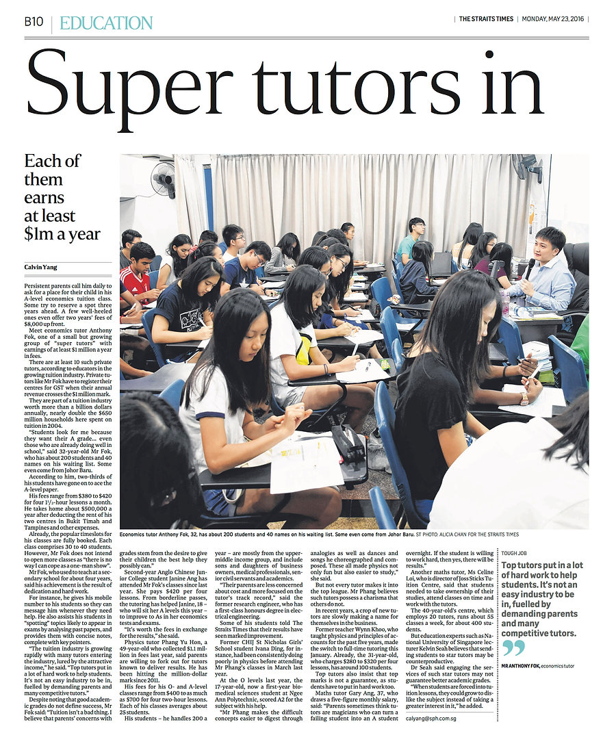 super tutors economics tuition