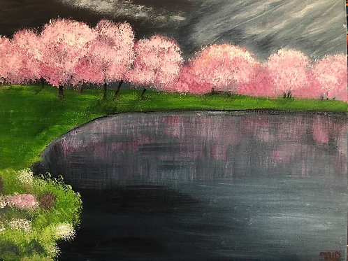 199 Pink Blossoms 11x14
