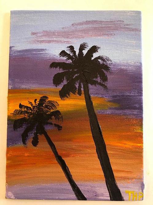 239 Sunset Palms 5x7