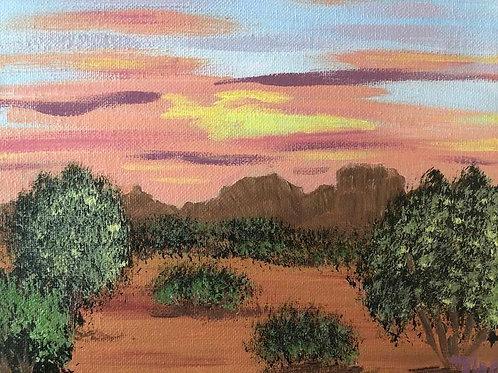 121 Desert Sunset 8 x 10s