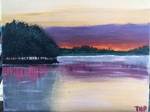 152 Lake at Sunset 8 x 10s