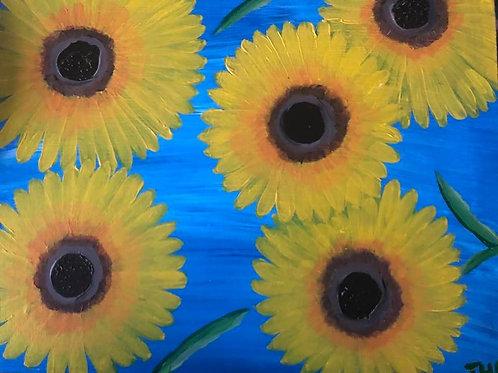 137 Sunflowers 11 x 14