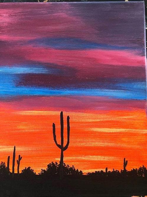 117 Desert Sunset 8 x 10s