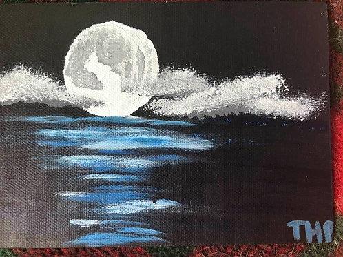 103 Moon Over Water 5 x 7