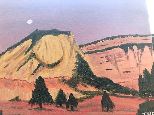 40 Moonrise Zion 8x10
