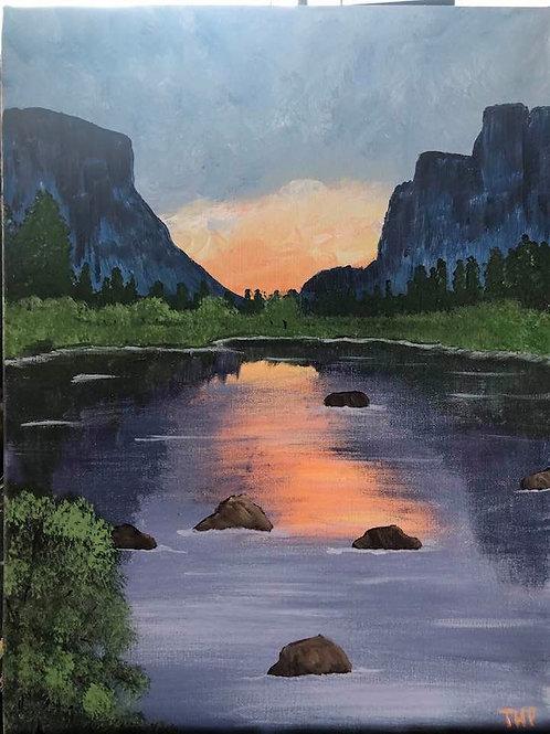124 Yosemite at Dawn 12 x 16