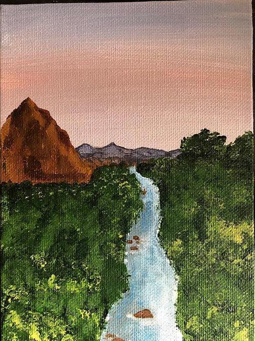 67 Virgin River Thru Zion 5 x 7