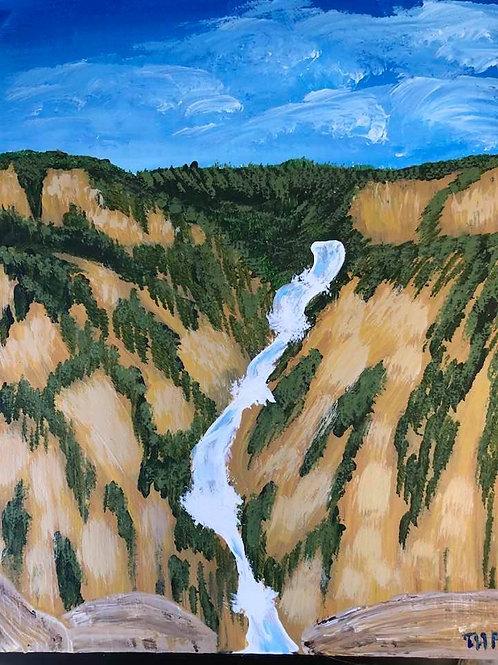 36 Waterfalls in Yellowstone 8 x 10