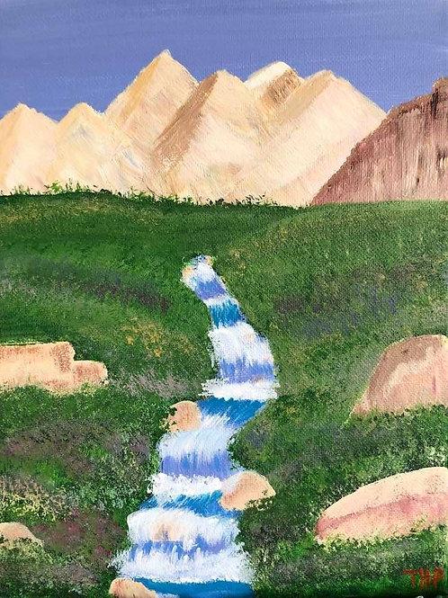 177 Mountain Stream 8 x 10