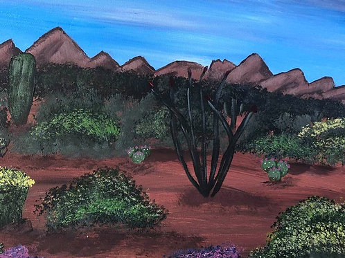 109 Desert in Bloom 12x16