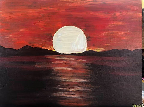 139 Red Sunset 11 x 14