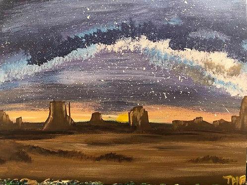 188 Milky Way over Desert 8x10